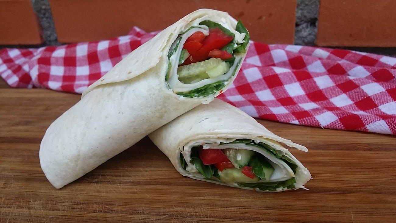 Wraps de pavo y verduras