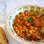 Lentejas con chorizo y arroz - ¡Muy rápidas!