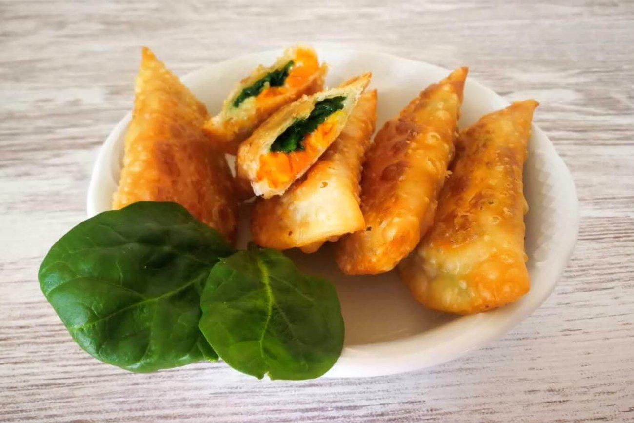 Empanadillas con calabaza y espinacas