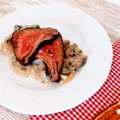 Solomillo de vaca estilo rosbif o Roast Beef